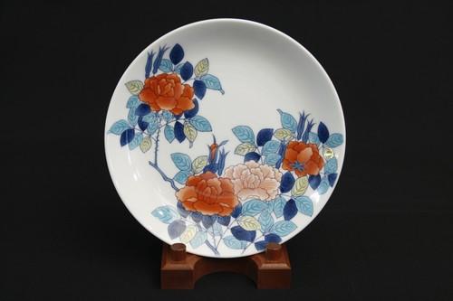 色鍋島薔薇文 皿