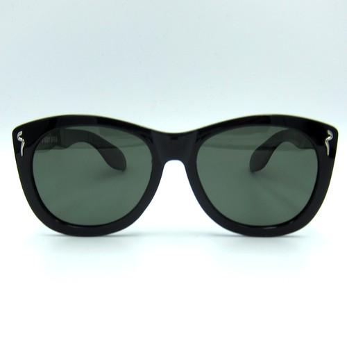 "Shady Spex ""CAUTIOUS LIP"" sunglasses, Black w/Polarized G15 lenses"