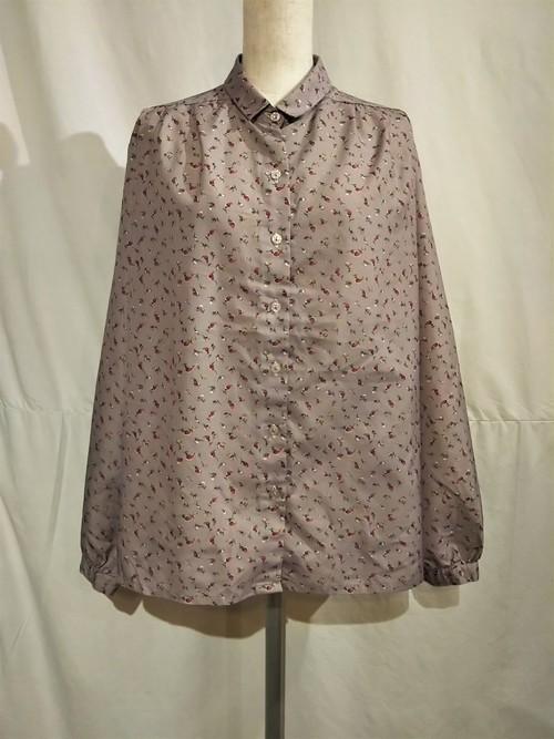 Botanical pattern Polyester blouse [G-1247]