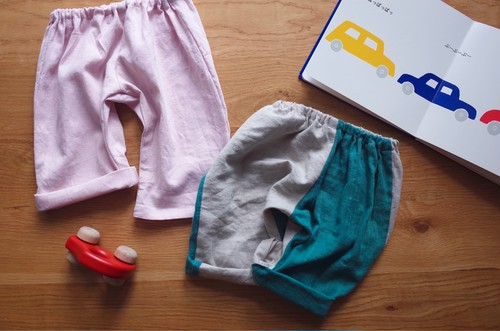 【受注限定品】baby&kids ツーカラーリネンパンツ