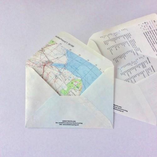 地図封筒 洋形 2枚セット