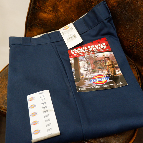 """Dead stock"" アメリカ古着 1990s USA製 Dickies 874 【navy】"