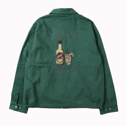 バック刺繍ツイルZIPジャケット NO1701014