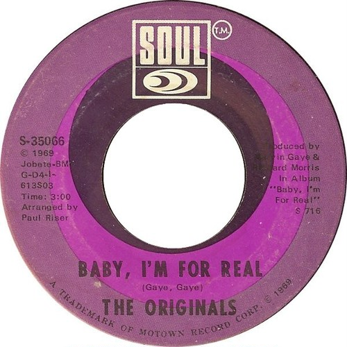 Originals, ‎The – Baby I'm For Real / Moment Of Truth