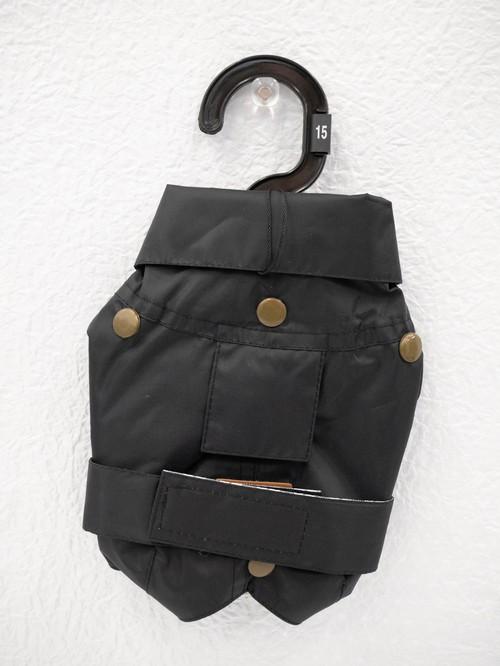 ドッグウエア 防水コート MONTREAL(BLACK) 15cm
