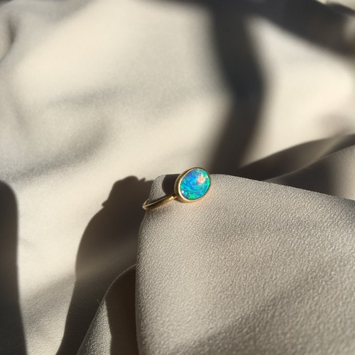 White (Crystal) Opal Ring