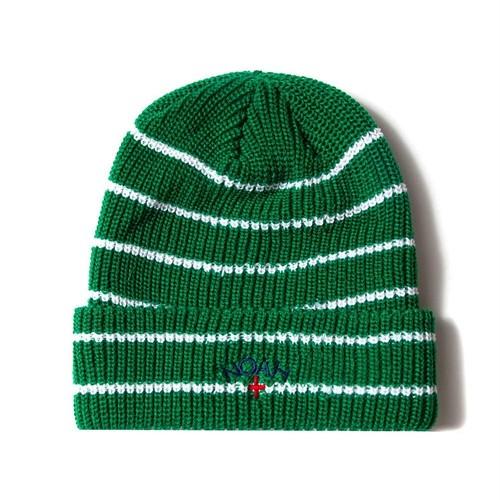 Core Logo Stripe Beanie(Green)