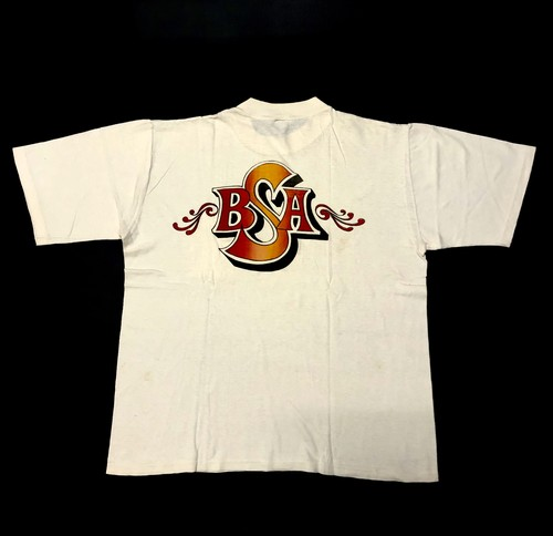70's HI-CRU BOB'S CYCLES BSA Print Pocket Tee コットン100%