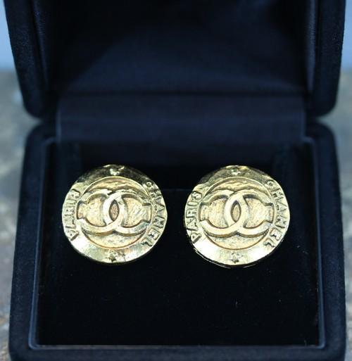 .CHANEL 2 8 COCO MARC LOGO EAR CLIPS MADE IN FRANCE/シャネルココマークロゴイヤリング2000000028569