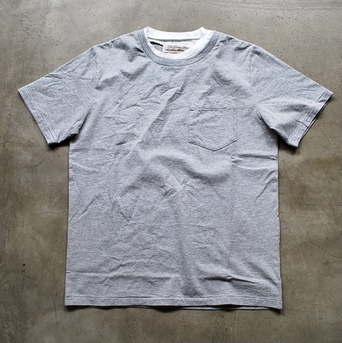 REMI RELIEF 30/-天竺グランジT HEATHER GREY