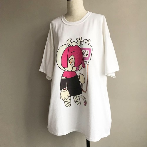 BRUTAL RABBIT TEE / pink【MILK BOY】