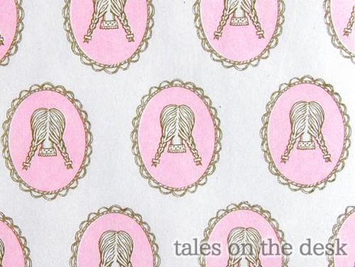 レターセット - 三つ編みピンク - tales on the desk