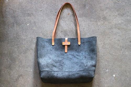 Leather Eco Bag 床革のエコバッグ Black×Natural