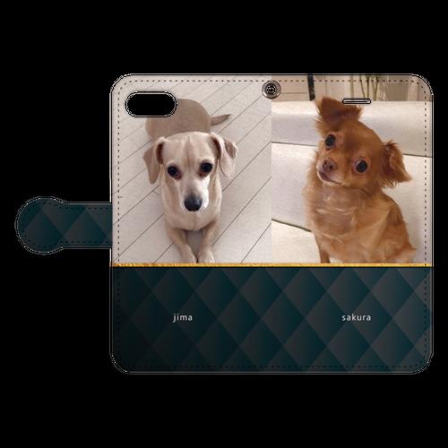 iPhone・Android Mサイズ モコモコ手帳型ケース color:ブラック