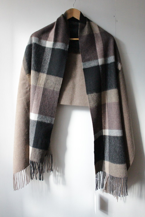 LUEUF「WOOL CHECK REMAKE STOLE」