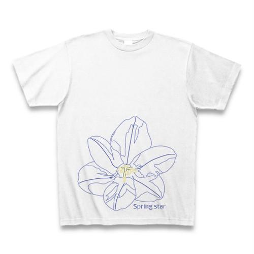 ハナニラ フラワーイラストTシャツ