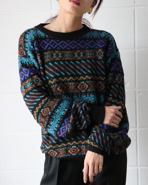 Fair Isle multicolor knit