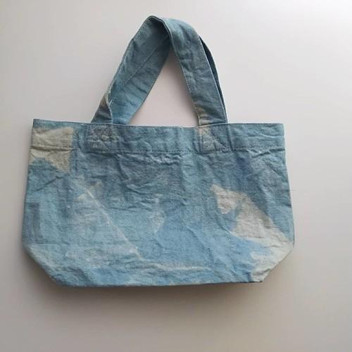 草木染め 藍染めトートバッグ c