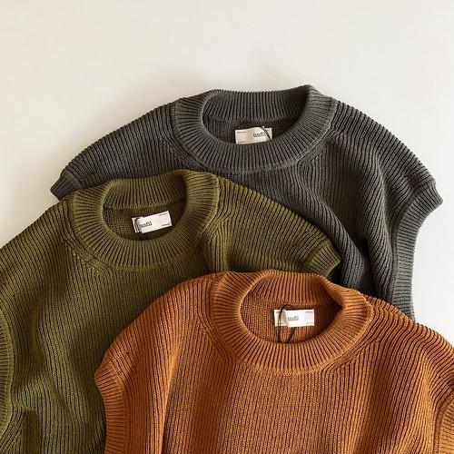 high twist cotton knit vest | unfil