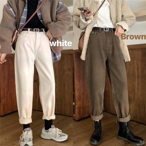 ロールアップバギーデニム デニム ジーンズ バギーパンツ 韓国ファッション
