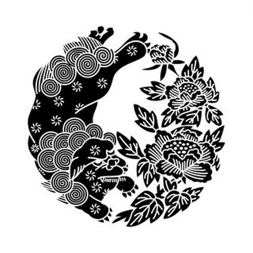 牡丹唐獅子(1) aiデータ