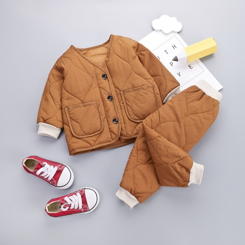 【注文商品】【ベビー / キッズ】Toddler Cotton Outfit Tops / Pants Set【Orange】