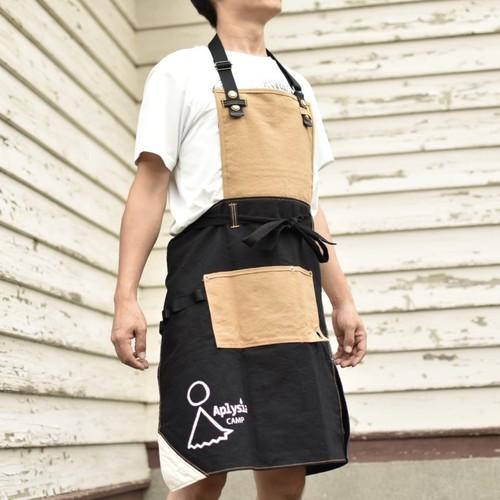 【AplysiaCAMP】2WAYワークエプロン ブラック