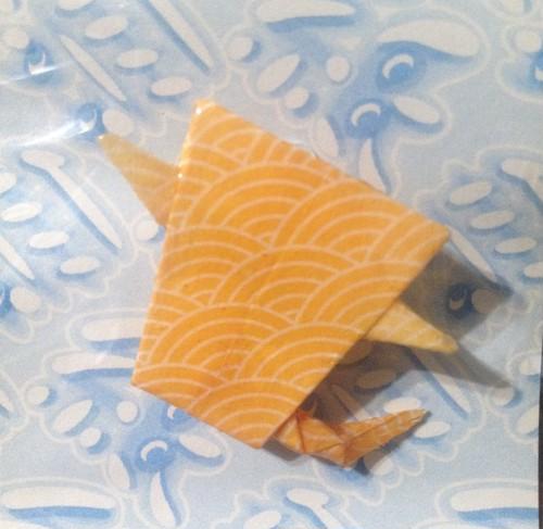 一反木綿バッジ(静海波オレンジ)