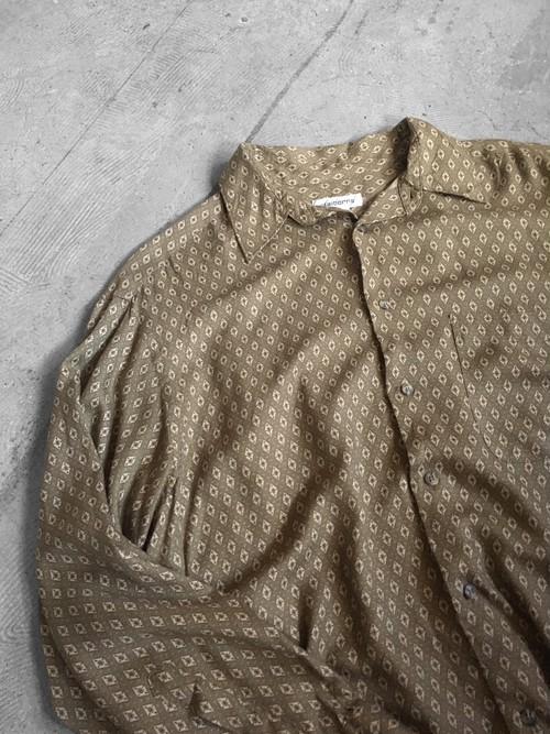 fine patterned rayon shirt