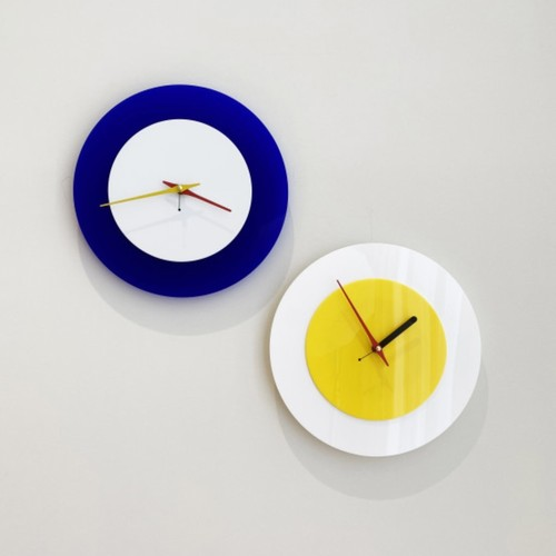 two tone acrylic clock 3types / ツートーン アクリル クロック 壁掛け時計 置き時計 韓国 北欧 雑貨