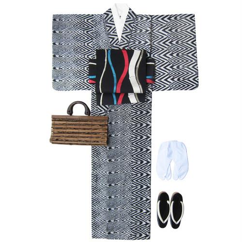 アフリカ布の浴衣 女物2 流水/ African Yukata for Women 2