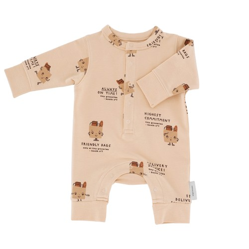 TinyCottons -Friendly Bags fleece Romper-