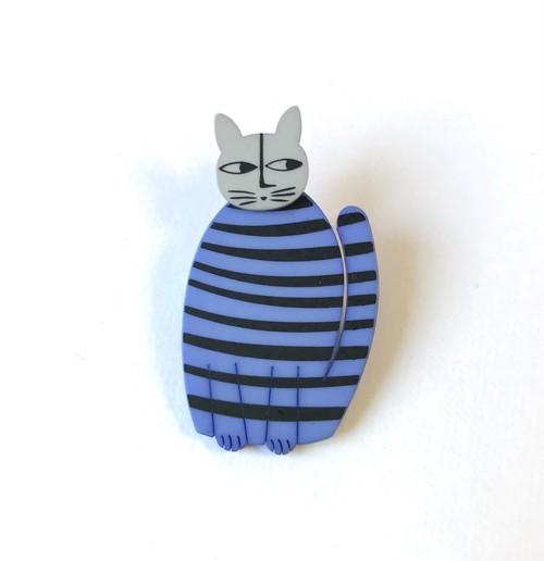 K-Formブローチ(すわり猫:カラー)