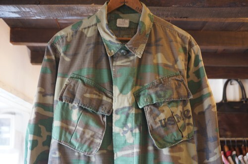 "60's U.S.Military camouflage jungle fatigue Jacket ""4th/SMALL"""