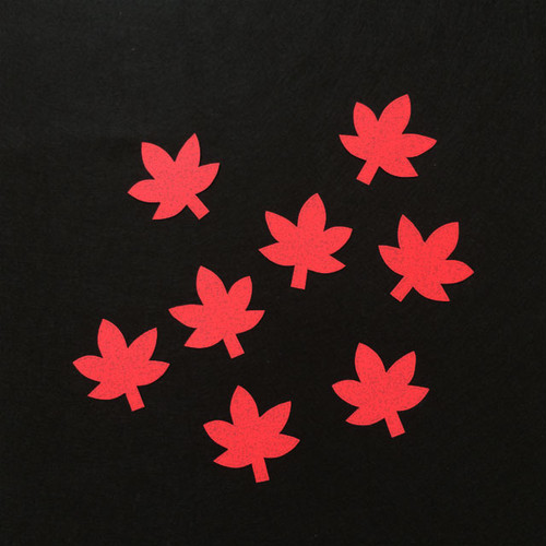 もみじ(赤)の壁面装飾(8個)