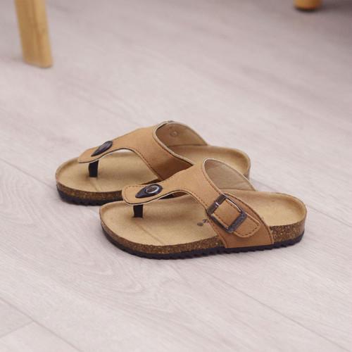 7811キッズ サンダル  子供靴 トングサンダル ジュニア シューズ 女の子 男の子 女児 ベビー 子ども 夏シューズ サマー カーキ