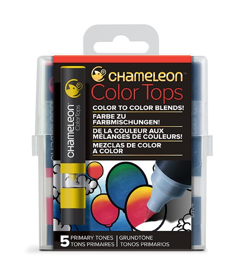 Chameleon Pen 5 Color Tops Primary Set (カメレオンペン 5本入りカラートップ プライマリーセット)