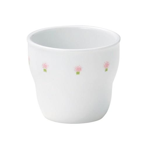 【1986-1060】強化磁器 持ちやすい乳児用カップ (Φ7cm×H6cm/満水150ml) 花の冠ピンク