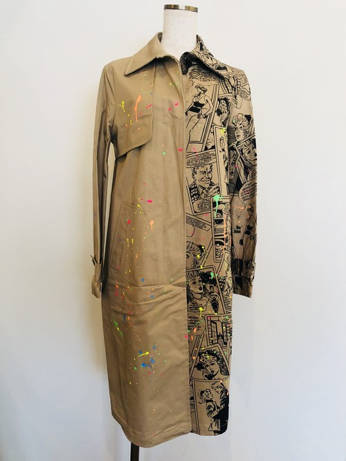 FRONT STREET8 hand painted overcoat comic