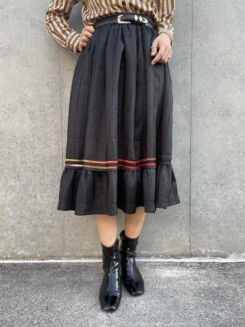 (TOYO) flare tyrol skirt