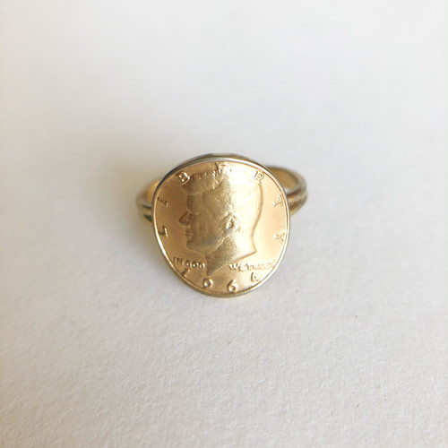 gold coin ring #11[r-159] ヴィンテージリング