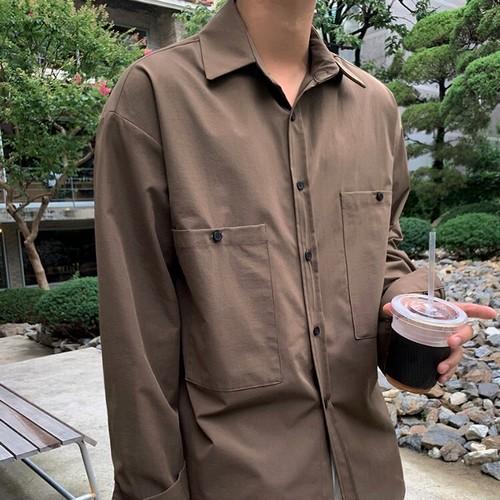 シンプルルーズシャツ BL5534
