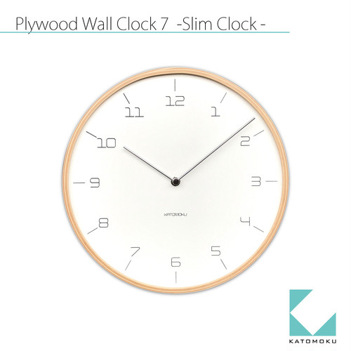 KATOMOKU plywood wall clock 7 km-71N ナチュラル