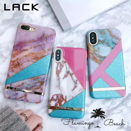 【FlamingoBeach】marble iPhoneケース