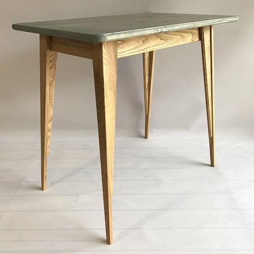 栗脚テーブル(天板ブルーグレー)