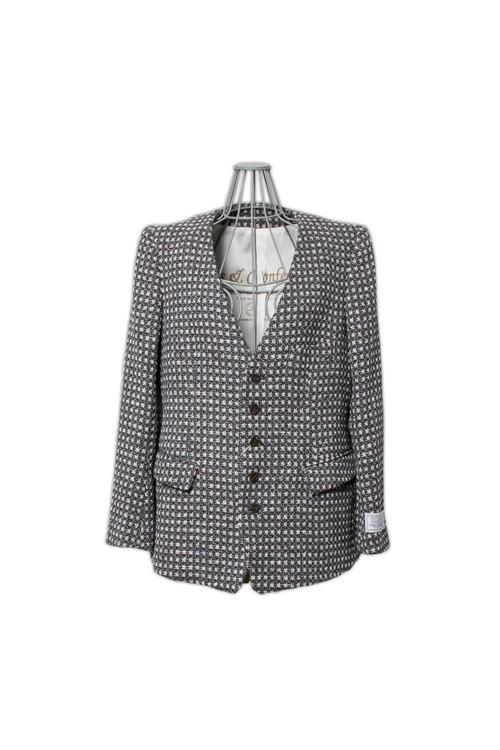 Robes&Confections limited by salon de GAUCHO scenic tweed no-collerr/navy(ladies)626-627