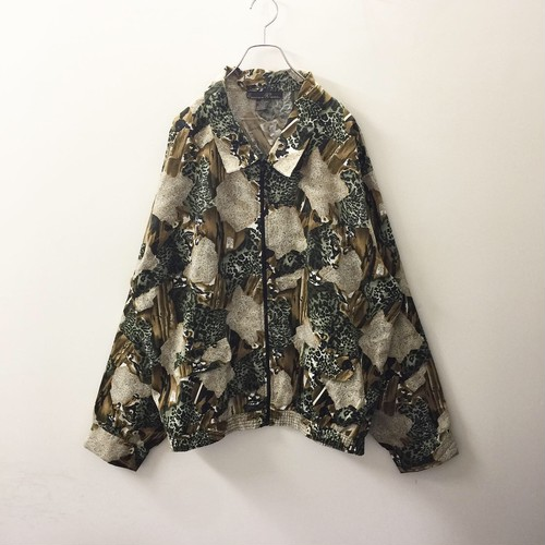 Exclusive by Whispers ビッグシルエット総柄ジップアップジャケット  size 3X メンズ古着