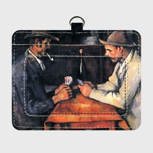 セザンヌ「カード遊びをする人々」 パスケース