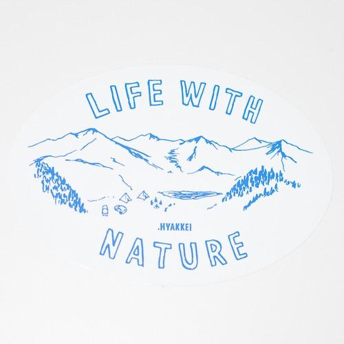 .HYAKKEI sticker【LIFE WITH NATURE<Mt.>】