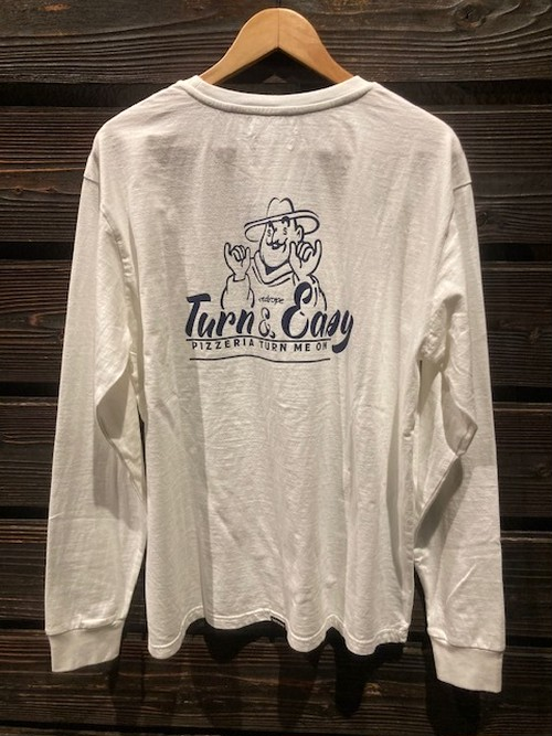 Turn Me On  L/S TEE『TURN&EASY』 collaboration with redrope(WHITE)  Lサイズ  121-464